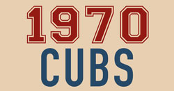 1970 Chicago Cubs book red and blue logo